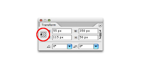 Step 6 - Set Transform Reference Point