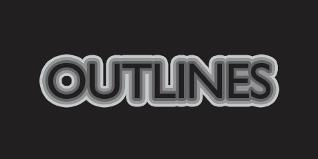 how to add oultine to text photoshop